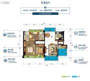 碧桂园山湖城4室2厅2卫125平方米户型图
