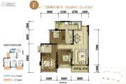 中铁诺德壹号3室2厅2卫98平方米户型图