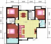 中天优诗美地3室2厅2卫135平方米户型图