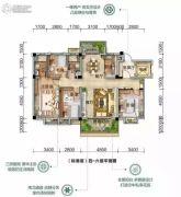 潜江碧桂园4室2厅2卫150平方米户型图