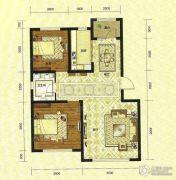 绿地・国际城2室2厅1卫88平方米户型图
