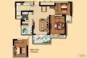 电建地产・海赋尚城3室2厅1卫86平方米户型图