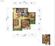 万象国际城2室2厅1卫88平方米户型图