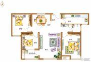 锦江城市花园3室2厅1卫119平方米户型图