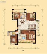 信地城市广场4室2厅2卫176平方米户型图