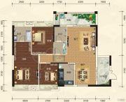 碧园・大城小院3室2厅2卫126平方米户型图