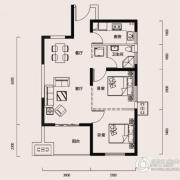 幸福时代2室1厅1卫83平方米户型图