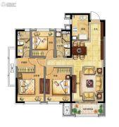 融创中央学府3室2厅2卫117平方米户型图
