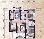 瀚海尊爵3室2厅1卫131平方米户型图
