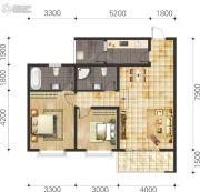 双语雅苑2室2厅2卫76--90平方米户型图