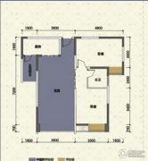 嘉州新城十期2室2厅1卫70平方米户型图