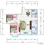 北辰御花园2室2厅1卫88平方米户型图