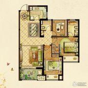 龙湖龙誉城3室2厅2卫107平方米户型图