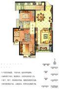 华强城3室2厅1卫104平方米户型图