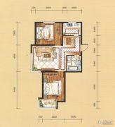 国茂清华园2室2厅1卫89平方米户型图