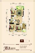 联发・君澜天地3室2厅2卫100平方米户型图