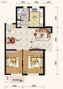 哥本哈根2室2厅1卫88平方米户型图