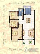 城市绿岛3室2厅1卫119平方米户型图