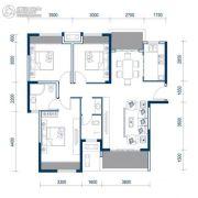 恒生碧水龙庭3室2厅2卫111平方米户型图