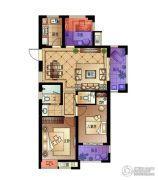 宋都・蓝郡国际3室2厅2卫95平方米户型图