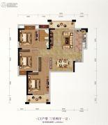 长投珑庭3室2厅1卫102平方米户型图