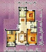 天源秀景3室2厅2卫110平方米户型图
