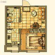 碧桂园银亿・大城印象1室1厅1卫50平方米户型图