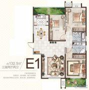 广厦曼哈顿3室2厅2卫132平方米户型图
