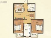 紫金国际2室2厅1卫89平方米户型图