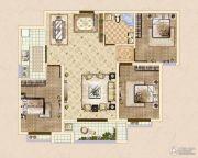 皓顺・华悦城3室2厅2卫104平方米户型图