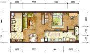 龙湖两江新宸1室2厅1卫0平方米户型图