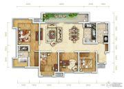 万科金润华府4室2厅2卫124平方米户型图