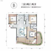 清凤海棠长滩3室2厅2卫95平方米户型图