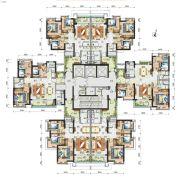 广州亚运城3室2厅0卫97--117平方米户型图