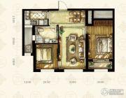 中国铁建国滨苑2室1厅1卫82平方米户型图