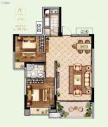 联泰・滨江中心2室2厅1卫95平方米户型图