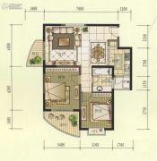 观山名筑2室2厅1卫83平方米户型图