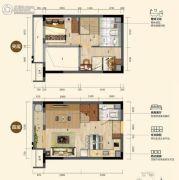 碧桂园松湖珑悦1室1厅1卫41--43平方米户型图
