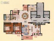 亿邦豪庭4室3厅3卫208平方米户型图