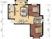 海德堡庄园2室2厅1卫92平方米户型图