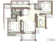 富力尚悦居3室2厅1卫91平方米户型图