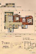 勤诚达22世纪2室2厅2卫85--87平方米户型图