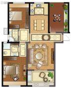 班芙春天3室2厅2卫127平方米户型图