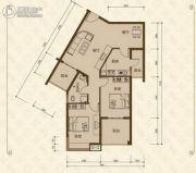 美尔雅・新西南国际花园2室2厅1卫96平方米户型图