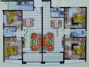 春天海景2室2厅1卫76--85平方米户型图