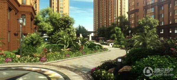 长禹星港湾园林景观图