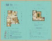 龙湖名景台3室2厅2卫140平方米户型图