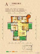 宁郡华府3室2厅2卫123平方米户型图
