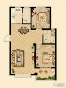 日百・市北依河园2室2厅1卫79平方米户型图
