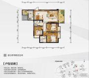 白金壹号3室2厅2卫99平方米户型图